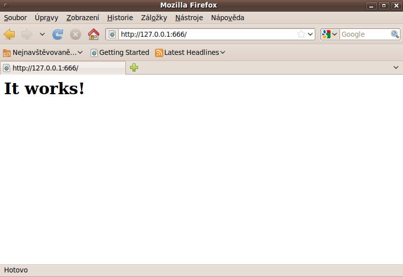 Spuštění serveru Apache