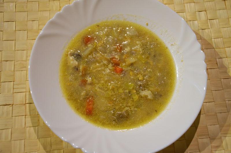 Vánoční polévka z rybích vnitřností